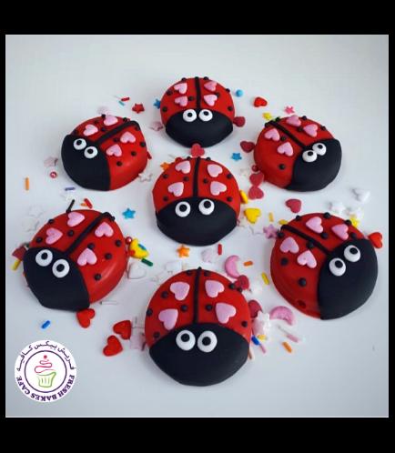 Valentine's Themed Chocolate Covered Oreos - Ladybugs