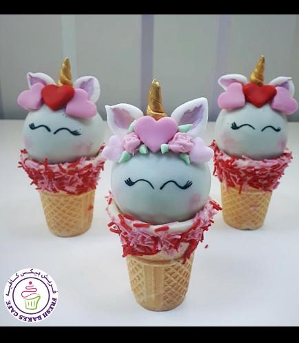 Valentine's Themed Cone Cake Pops 06