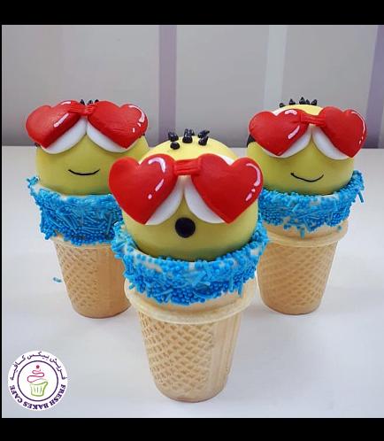 Valentine's Themed Cone Cake Pops 05