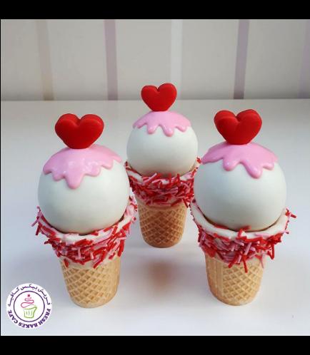 Valentine's Themed Cone Cake Pops 04