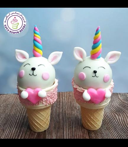 Cone Cake Pops - Cat Unicorn