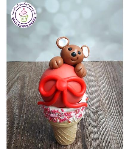 Cone Cake Pops - Heart & Bear