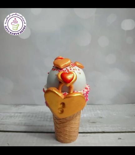Cone Cake Pops - Hearts - Lock
