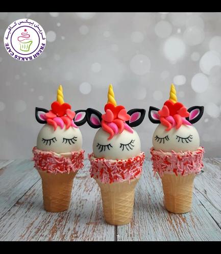 Cone Cake Pops - Unicorns 03