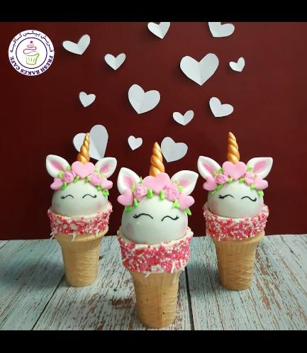 Cone Cake Pops - Unicorns 01