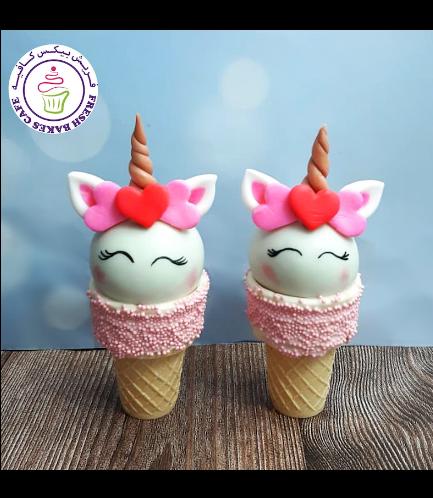 Cone Cake Pops - Unicorns 02