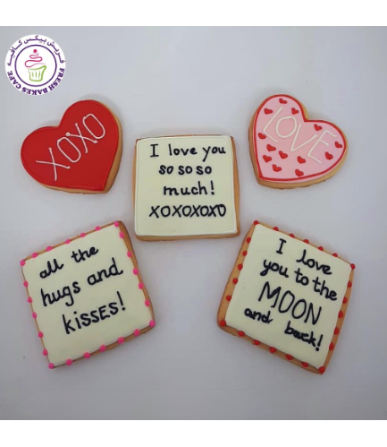 Cookies - Hearts & Messages