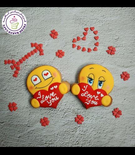 Emoji Themed Cookies - Valentine's 01