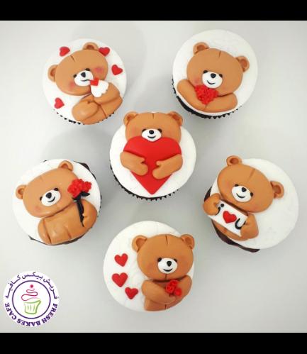 Cupcakes - Bears - Beige 04