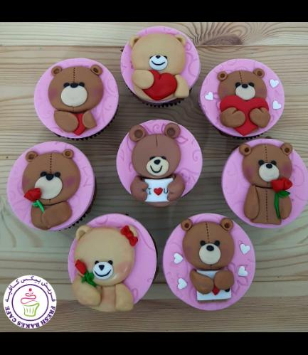 Cupcakes - Bears - Beige 05