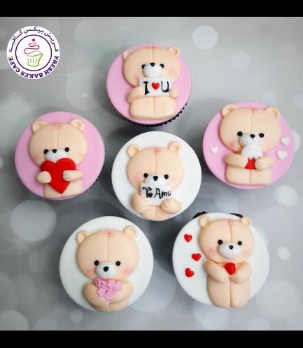 Cupcakes - Bears - Beige 06