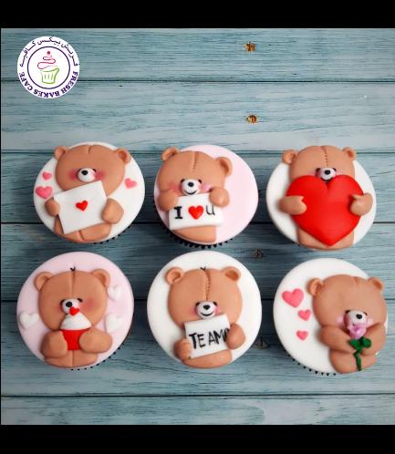 Cupcakes - Bears - Beige 07