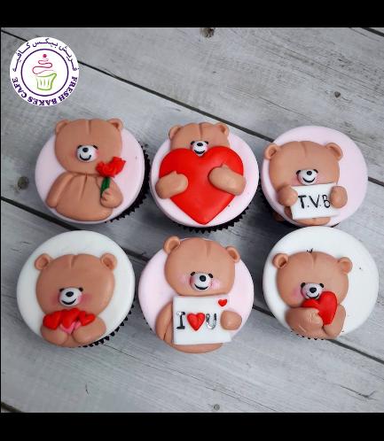 Cupcakes - Bears - Beige 08