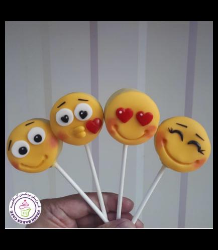 Valentine's Themed Donut Pops - Emojis 03