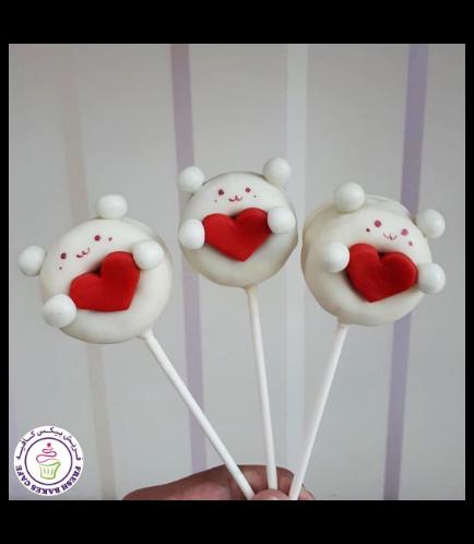 Valentine's Themed Donut Pops - Bears