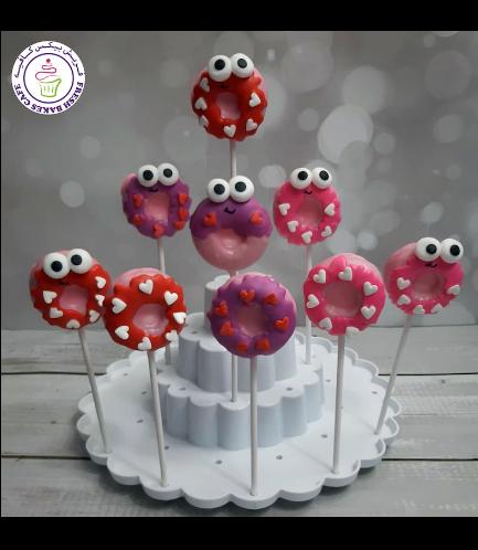 Valentine's Themed Donut Pops - Cartoon 01