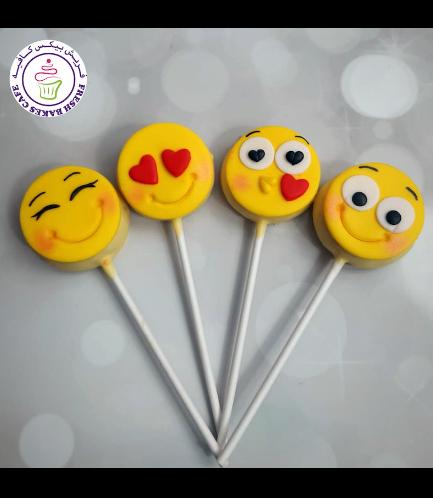 Valentine's Themed Donut Pops - Emojis 02