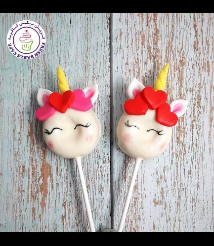 Valentine's Themed Donut Pops - Unicorns
