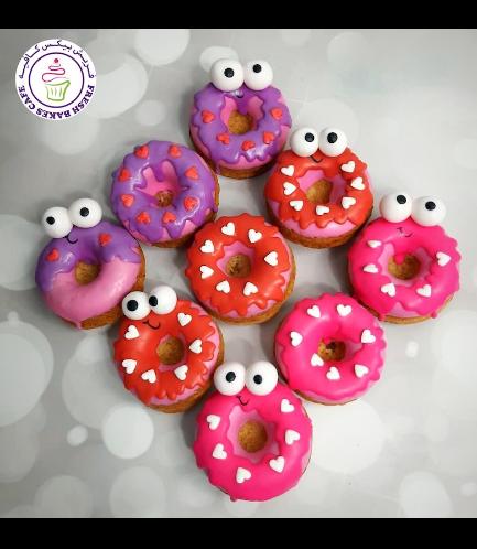 Valentine's Themed Donuts - Cartoon