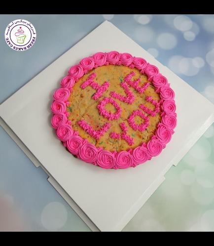 Valentine's Themed Funfetti Cookie Cake