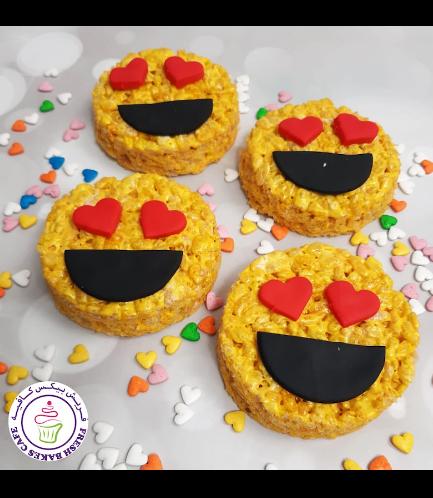 Valentine's Themed Krispie Treats - Emoji