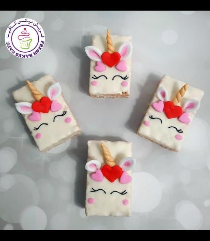 Valentine's Themed Krispie Treats - Unicorn