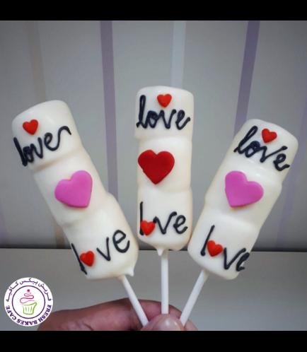 Valentine's Themed Marshmallow Pops 01