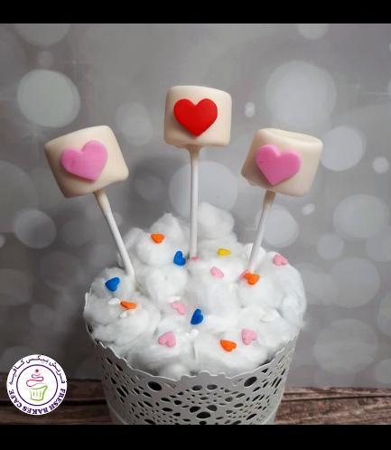 Valentine's Themed Marshmallow Pops - Hearts 02
