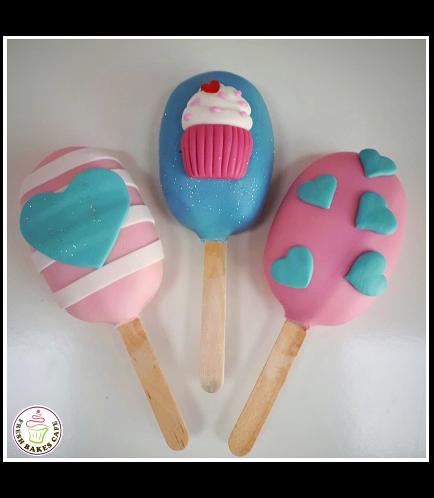 Popsicakes - Cupcake & Hearts