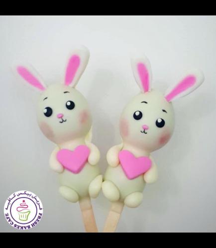 Valentine's Themed Popsicakes - Rabbits 01