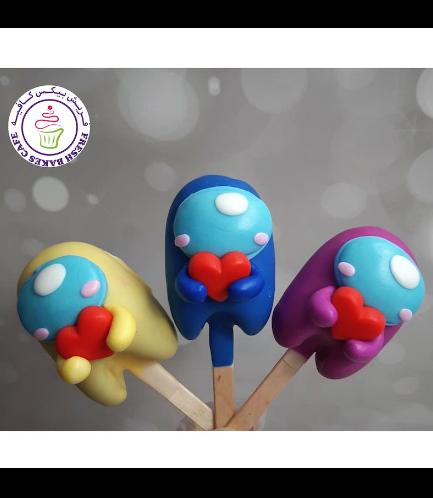 Valentine's Themed Popsicakes - Among Us 01