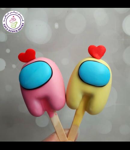 Valentine's Themed Popsicakes - Among Us 02