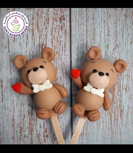 Valentine's Themed Popsicakes - Bears - Boys 01