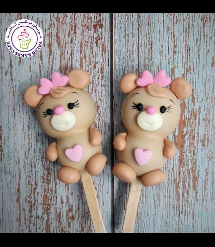 Valentine's Themed Popsicakes - Bears - Girls 03