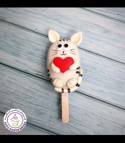 Valentine's Themed Popsicakes - Cat