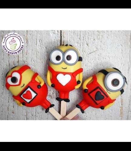 Valentine's Themed Popsicakes - Minions