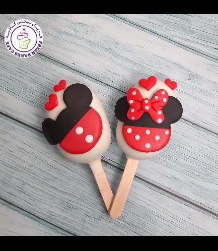 Valentine's Themed Popsicakes - Mickey & Minnie Mouse
