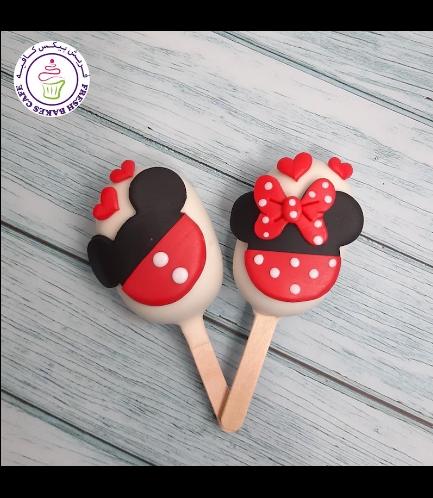Mickey & Minnie Mouse Themed Popsicakes - Valentine's