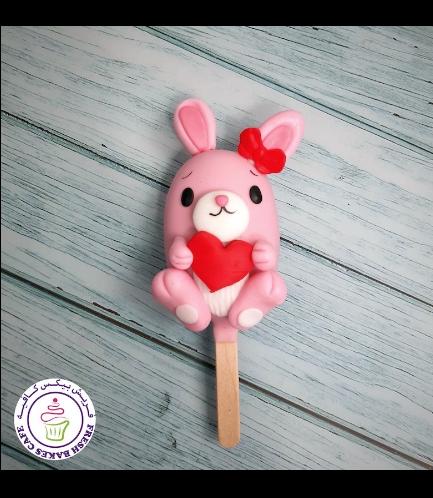 Valentine's Themed Popsicakes - Rabbits 02
