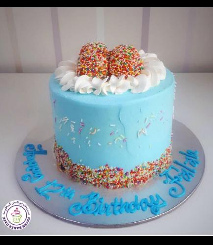 Funfetti Cake 01 - Blue