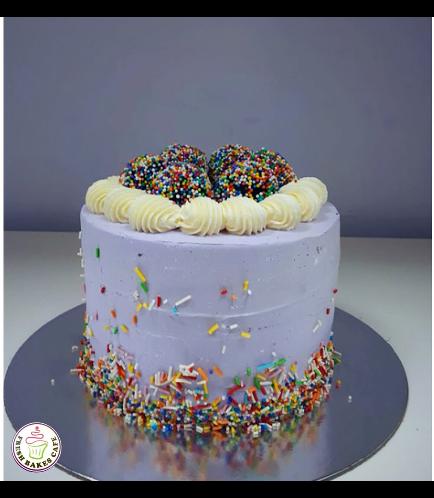 Funfetti Cake 01 - Purple
