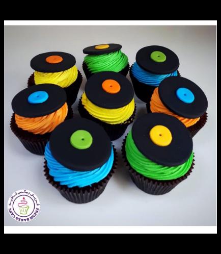 Vinyl Record Themed Cupcakes