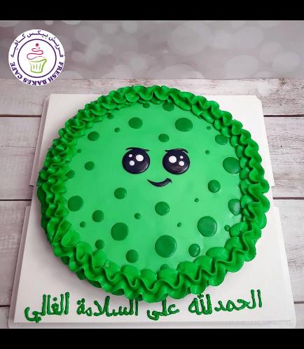Virus Themed Chocolate Chip Cookie Cake