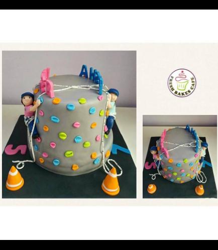 Wall Climbing Themed Cake 02a