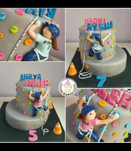 Wall Climbing Themed Cake 02b