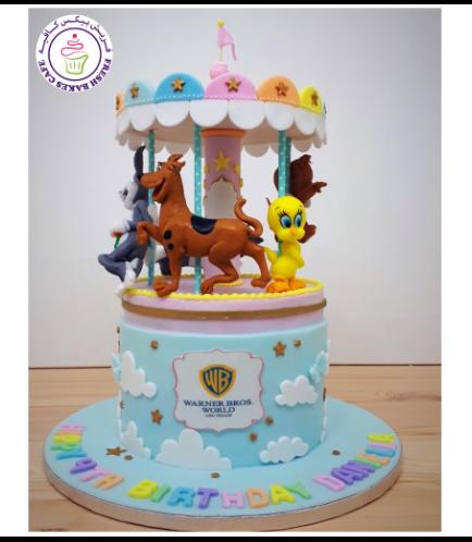 Warner Bros. Themed Cake - 3D Carousel Cake 01a