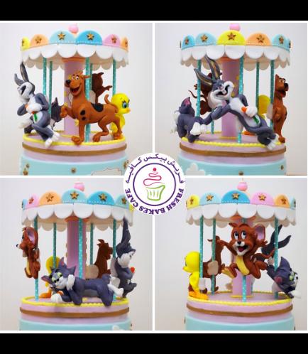 Warner Bros. Themed Cake - 3D Carousel Cake 01b