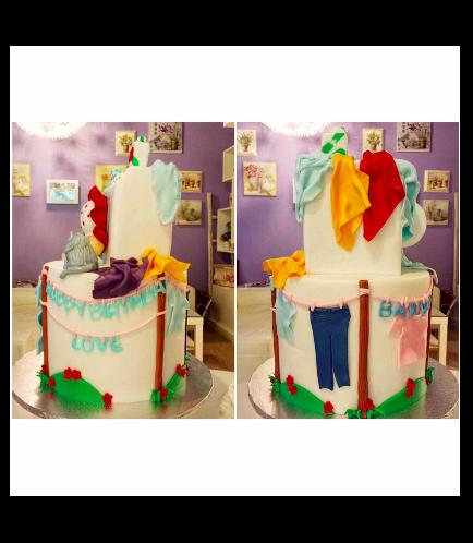 Laundry Themed Cake 01b