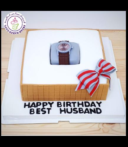 Watch Themed Cake - 3D Box Cake