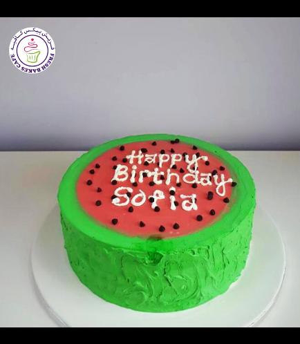Watermelon Themed Cake - Cream Cake